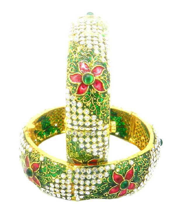 Expressions Set of Two Floral Radiance Bangles