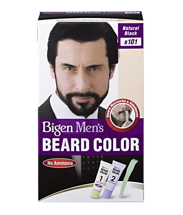 Bigen Men\'s Beard Color B-101 Natural Black: Buy Bigen Men\'s Beard ...