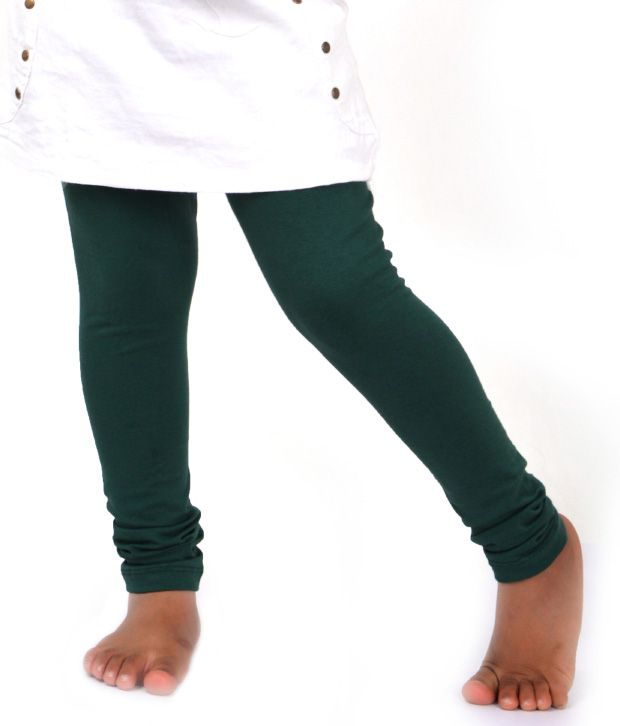 e26cac3913552 Robinbosky Bottle Green Leggings For Kids - Buy Robinbosky Bottle Green  Leggings For Kids Online at Low Price - Snapdeal