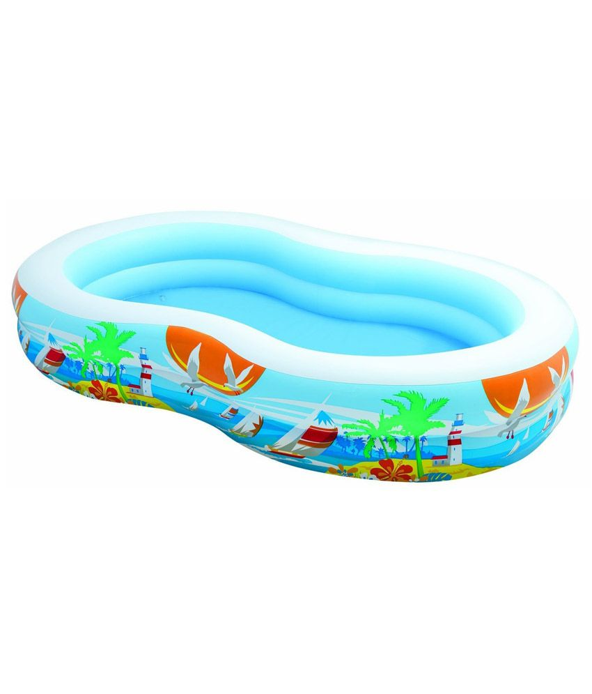 Intex inflatable intex swim center family pool best price for Best rated inflatable swimming pool