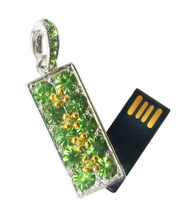 ZBEL Green Diamond 4 GB Pen Drive