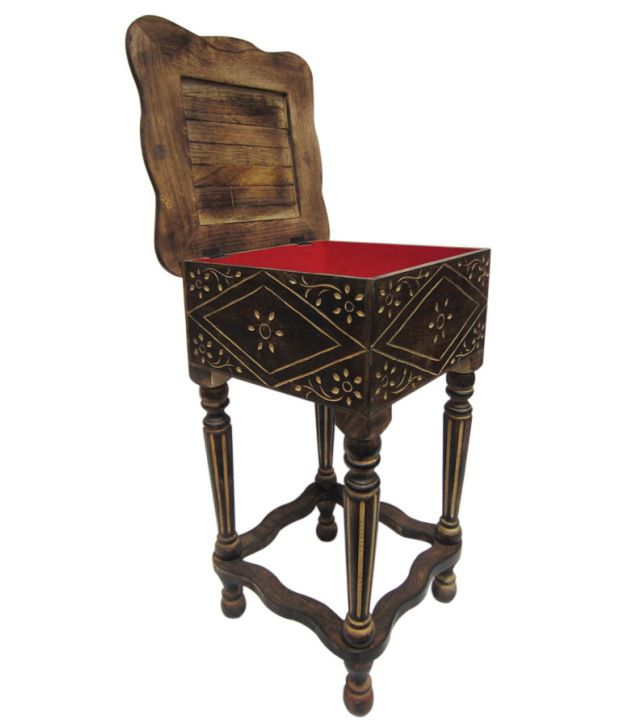 Pindia Fancy Flamboyant Storage End Table
