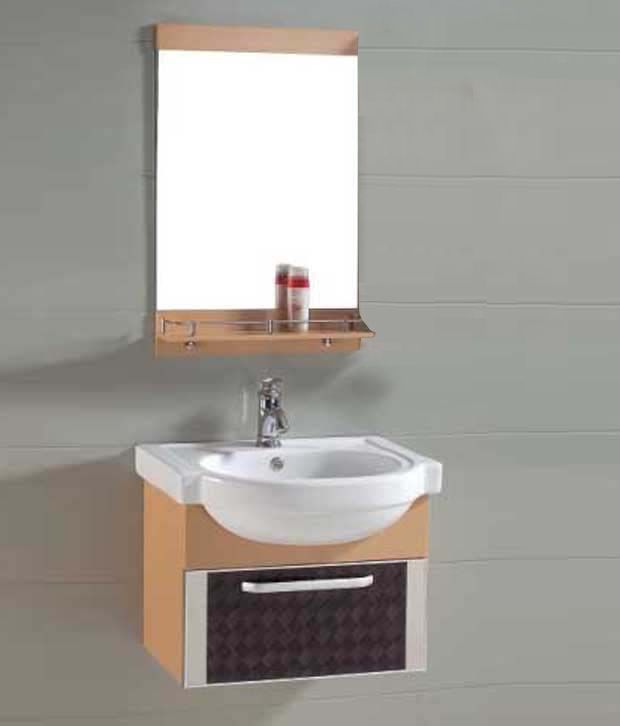 Buy Sanitop Ceramic Wash Basin And Pvc Bathroom Cabinets Bathroom Cabinet Online At Low
