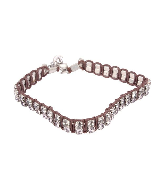 Zovon Elegant Thread and Tiny Crystals Bracelet