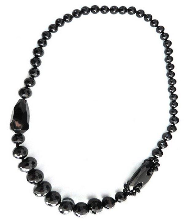 Pearlz Ocean Agate Necklace- Black