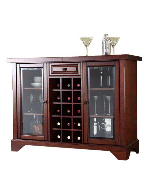 Elegant Sheesham Wood Bar Cabinet