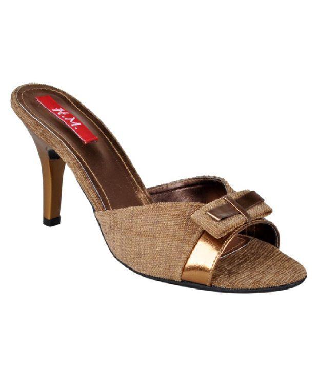 HM Engaging Bronze Slip-on Heels