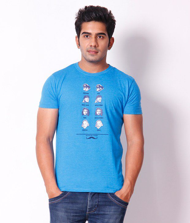 Locomotive Stylish Blue T Shirt