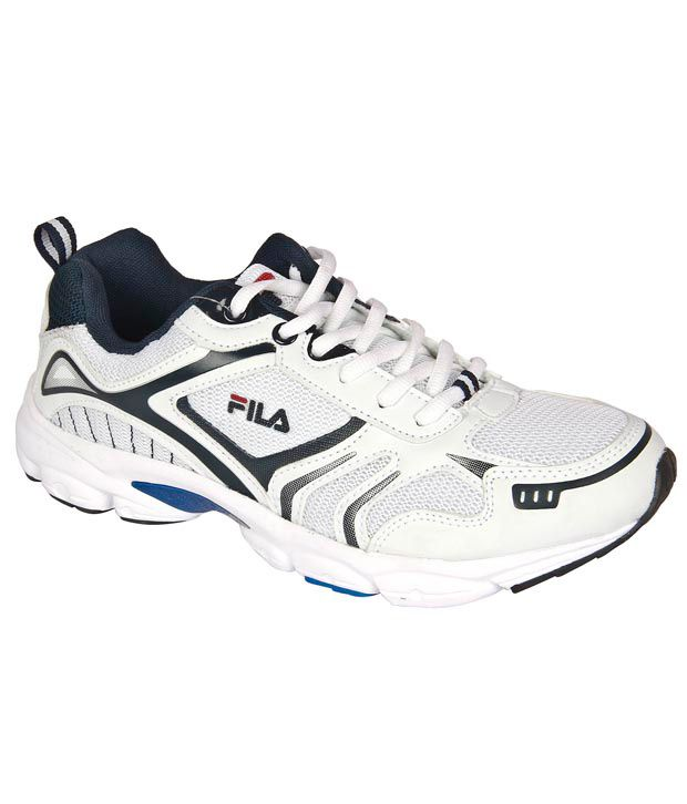 new arrival 4fb80 5d243 Fila Runners 111 White & Navy Blue Running Shoes