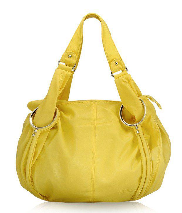 Calvino Stylish Yellow Shoulder Bag