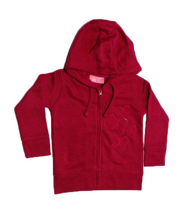 F S Miniklub Butterfly Applique Sweatshirt - Berry Pink For Kids
