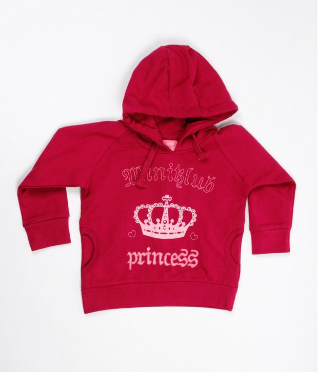 F S Miniklub Crown Print Sweatshirt - Pink For Kids