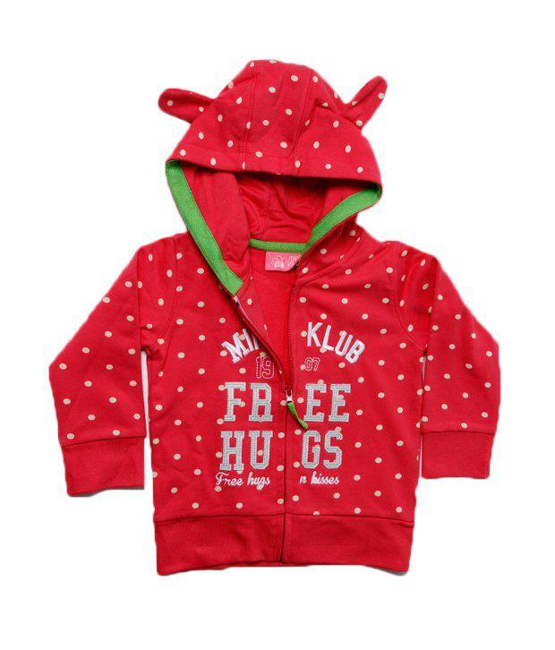 F S Miniklub Free Hugs Sweatshirt - Red For Kids
