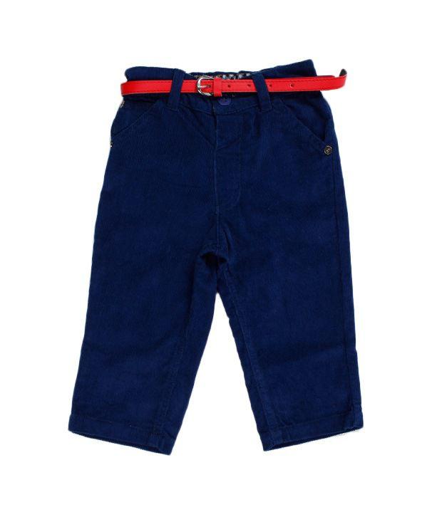 F S Miniklub Marika Cord Trouser - Navy For Kids