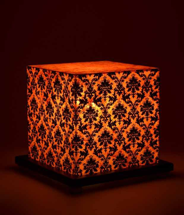 Shady Ideas Paisley Passion Small Orange Acrylic Table Lamp
