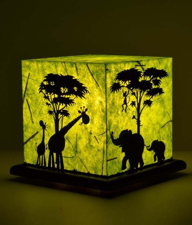 Shady Ideas Jungle Mania Green Acrylic Table Lamp