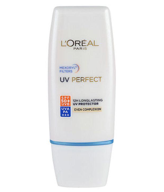 Kết quả hình ảnh cho L'oreal Women Uv Perfect 12h Uv Protector