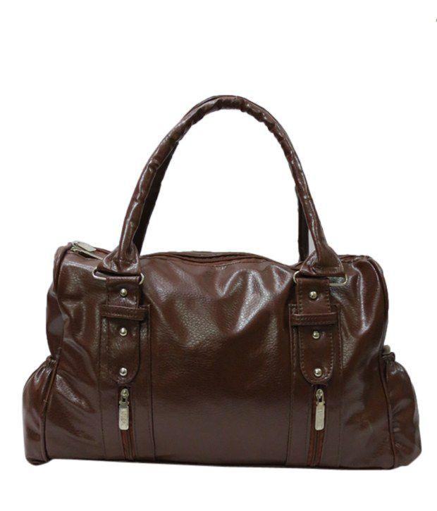Nell Brown Textured Finish Shoulder Bag