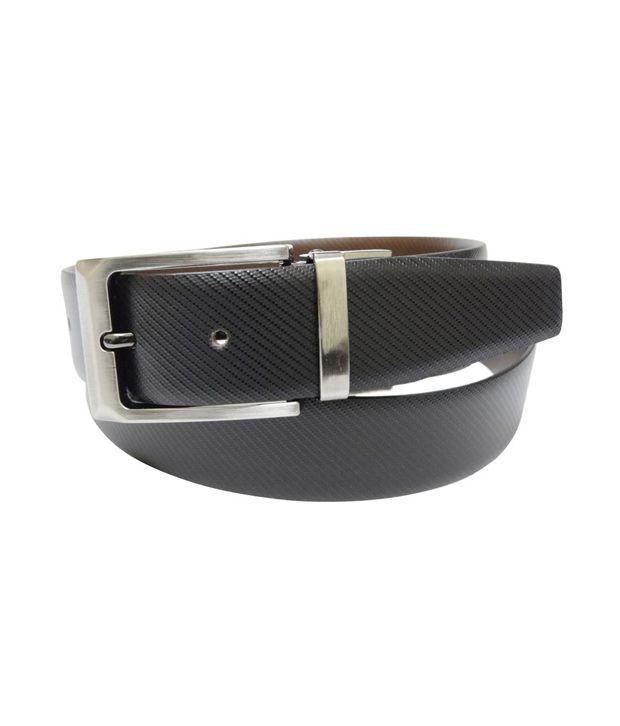 Revo Reversible Leather Belt (Black)