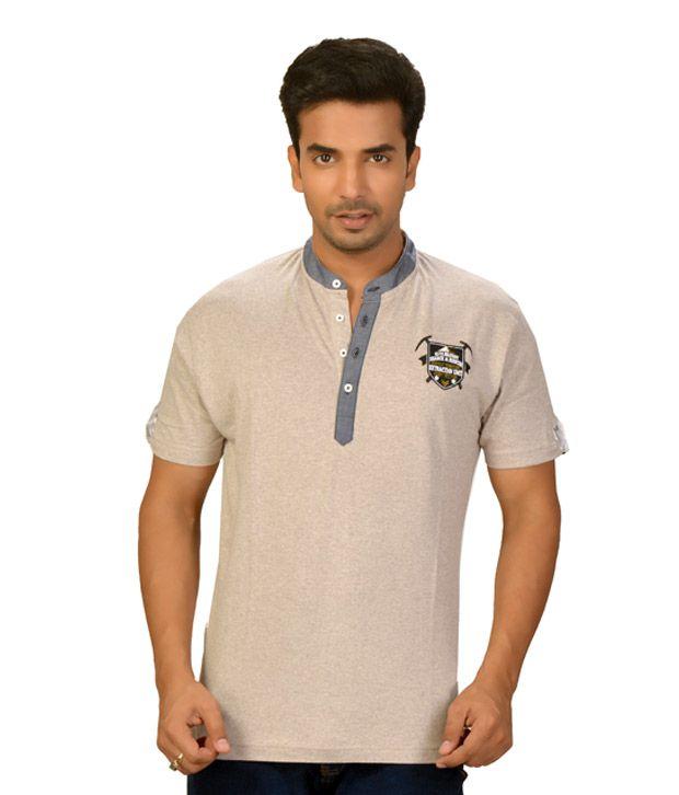 Guerrilla Stylish Beige T-Shirt