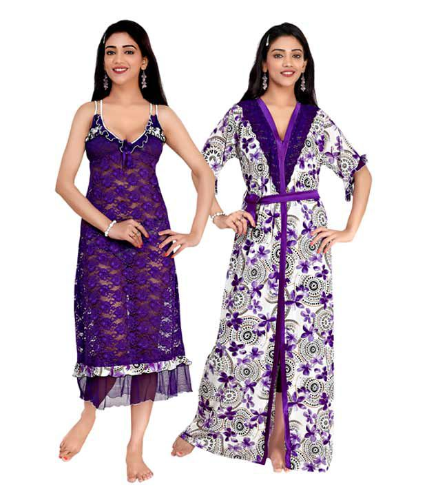 Teleno Net Nightsuit Sets Pack of 2