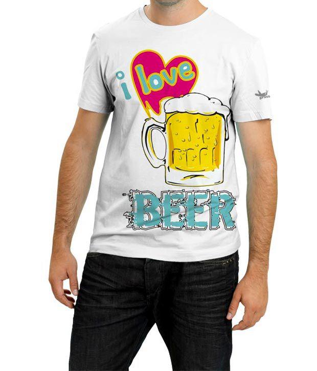 Grasshopr Beer Design White T-Shirt