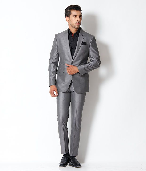 The Design Factory Elegant Grey Suit - Buy The Design Factory ...