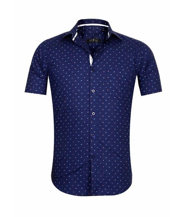 Sting Blue Casual Shirt - Half Sleeve