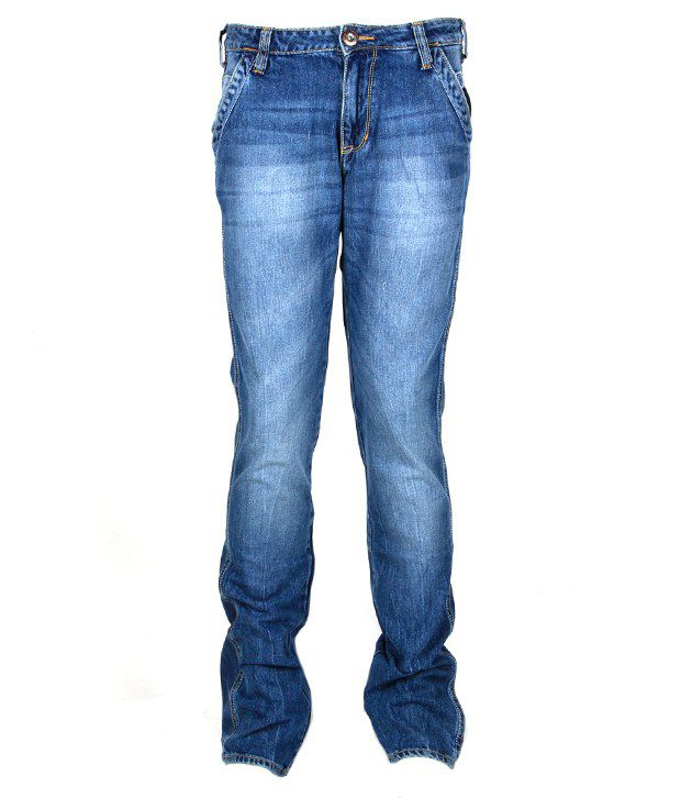 Wrangler Fashionable Blue Faded Jeans