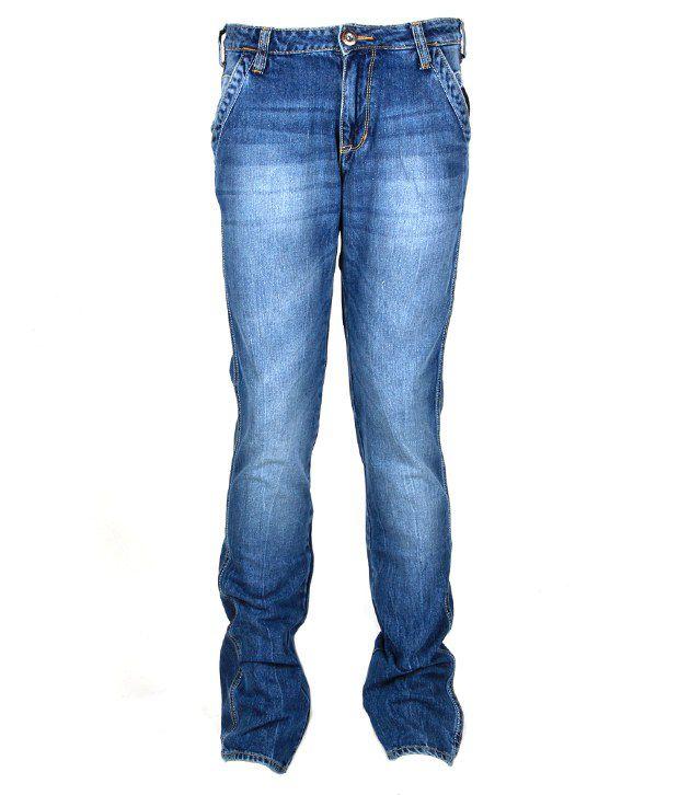Wrangler Fashionable Blue Faded Jeans