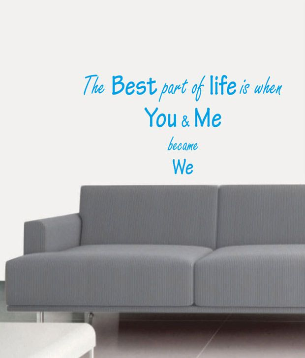 Best Quotes For Living Room: MyRitzy You & Me Living Room Wall Quote Decal Blue: Buy
