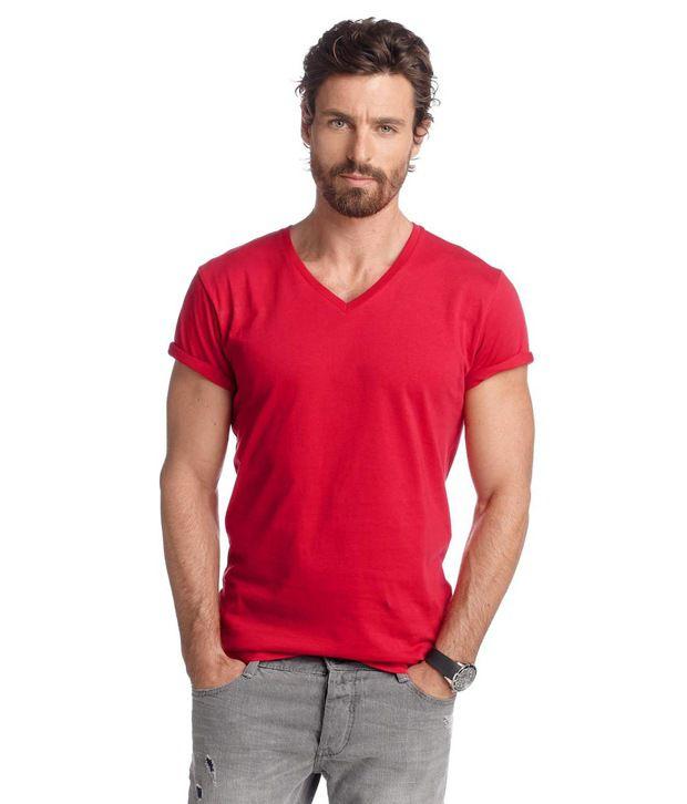 BTR Red V-Neck T Shirt