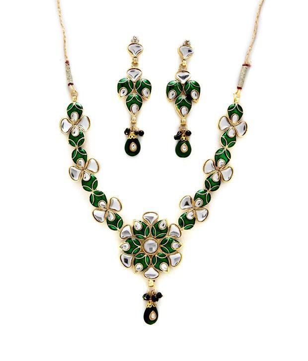 Sia Floral Motif RasRawa Necklace Set