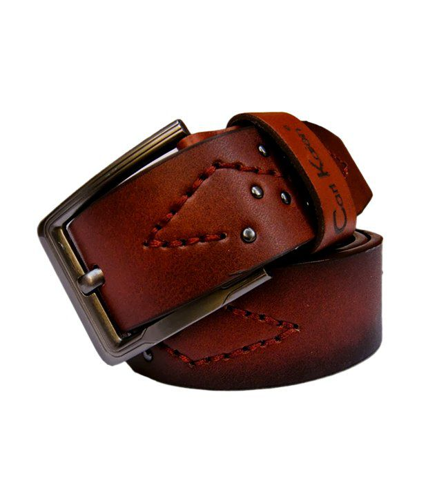 Winsome Deal Men's Brown Synthetic Leather Casual Belt - CSLB001