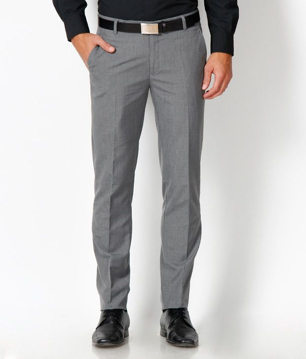 Just Henry Classic Grey Formal Trouser