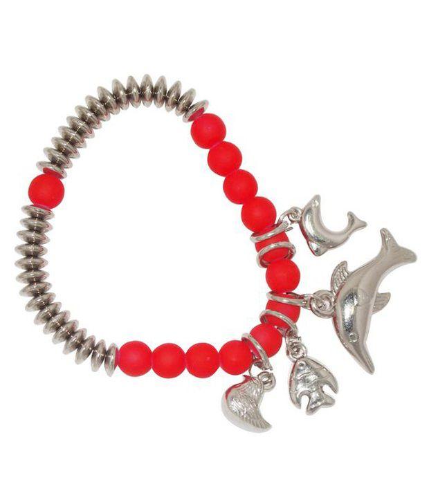 Urthn Trendy Red Charm  Bracelet