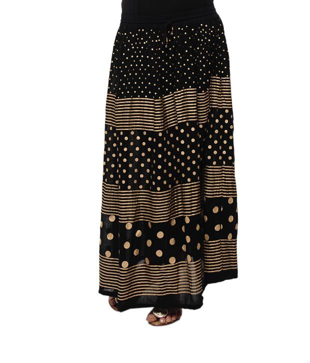 f36bf18c0d8a Rajasthani Sarees Black Cotton Lycra Mini Skirt Price in India | Buy ...