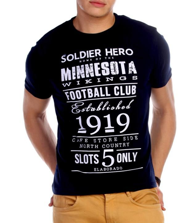 Elaborado Minnesota Wikings Navy T-Shirt