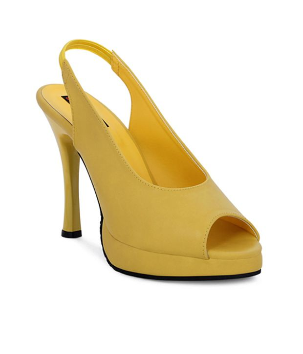 Get Glamr Elegant Yellow Peep Toe Pencil Heel Sandals Price in India- Buy  Get Glamr Elegant Yellow Peep Toe Pencil Heel Sandals Online at Snapdeal 55f21a1809