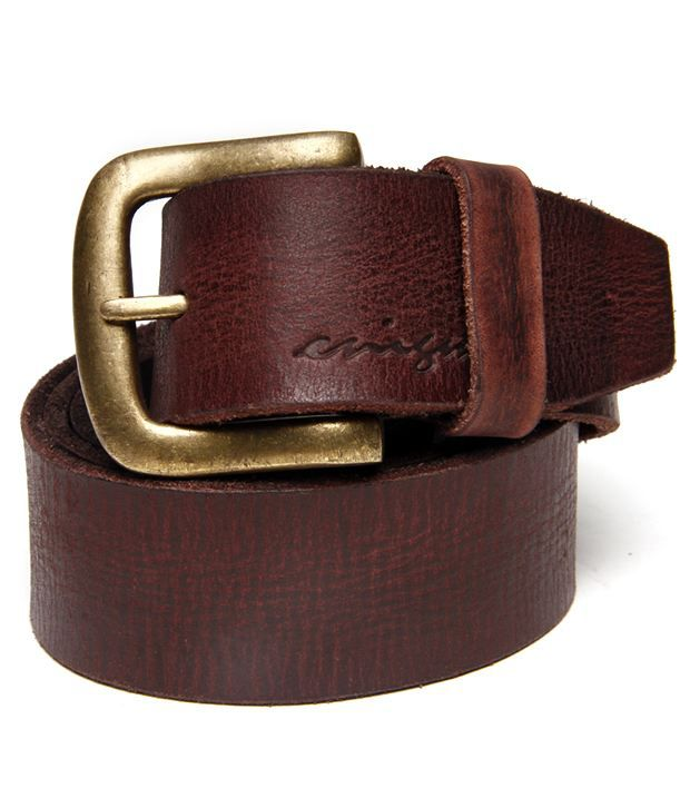 Enigma Stylish Brown Pure Leather Belt For Men