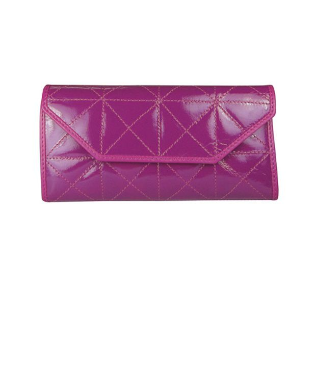 Indostyle Pink Quilted Wallet