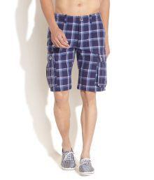 United Colors Of Benetton Purple Checks Shorts