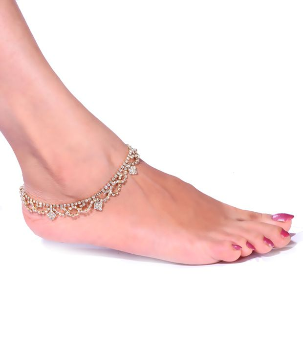 Antique Impressions Trendy Stone Studded Anklets