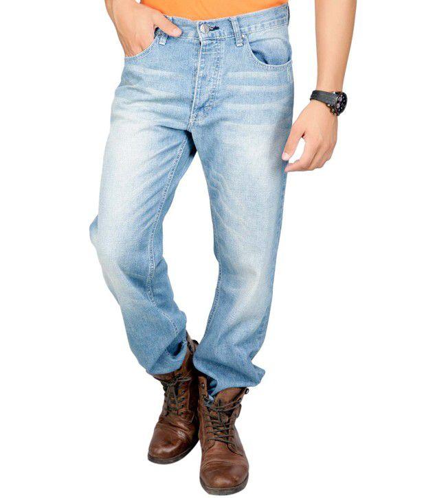 Web Jeans Light Blue Faded Jeans