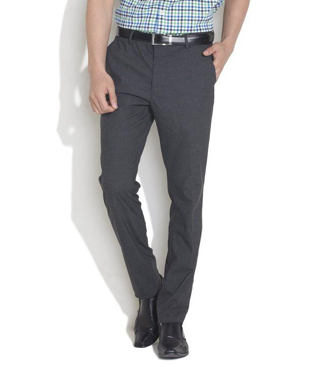 Daniel Hechter Dark Grey Formal Trouser