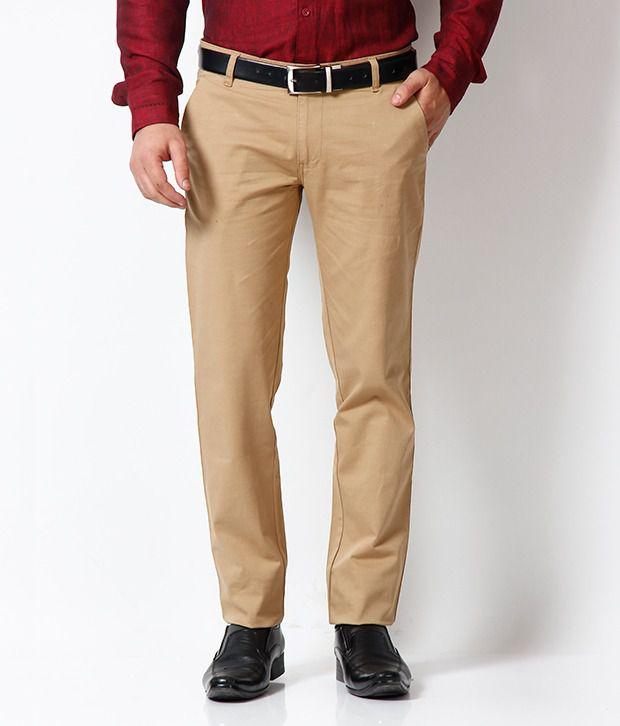 Club Avis USA Beige Flat Trouser