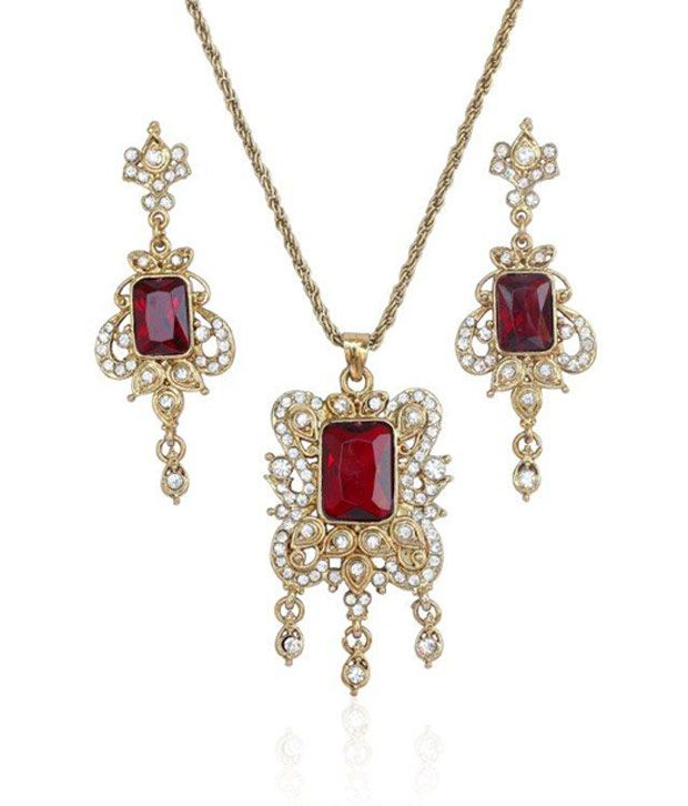 Touchstone Victorian Indian Gold Pendant Set