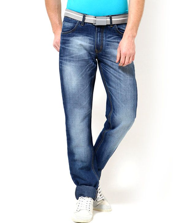 Mushky D-Blue Slim Fit Jeans for Men