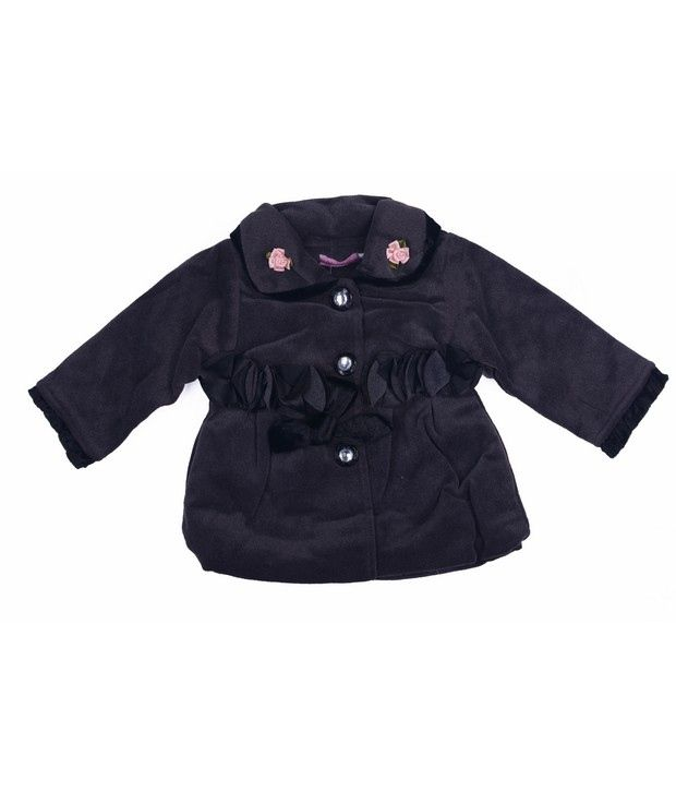Isabelle Black Winter Wear Jacket For Kids