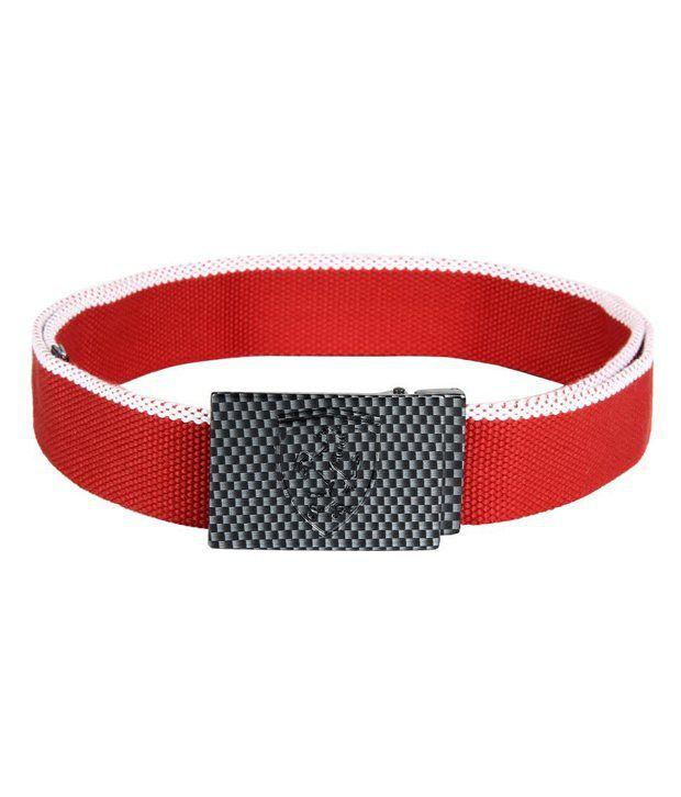 Puma Red Ferrari Belt For Men
